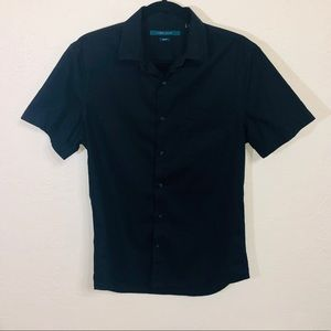 Perry Ellis Slim-Fit Button-Up Polo